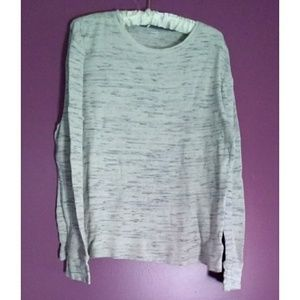 Old Navy light gray marled thermal long sleeve LG